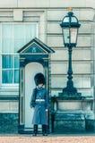 05/11/2017 Londyn, UK Buckingam pałac strażnik Fotografia Royalty Free