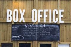 LONDYN, UK - CZERWIEC 21 2014: Southbank Centre, kasa teatralna Fotografia Stock
