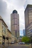 LONDYN, UK - KWIECIEŃ 24, 2014: Miasto Londyn jeden wiodący centres globalny finanse, kwatery główne dla wiodących banków, insura Obrazy Royalty Free
