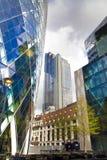 LONDYN, UK - KWIECIEŃ 24, 2014: Plac budowy z żurawiami w mieście Londyn jeden wiodący centres globalny finanse Obrazy Stock