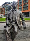 Londyn, UK - Kwiecień 17 2018: Statua Sir Simon Milton zakłada w handlarza kwadracie, Londyn zdjęcie royalty free