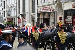 Baroness Thatcher pogrzeb fotografia stock