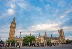 Londyn, UK - Lipiec 20 2015: Lato przyjeżdżał kapitał Anglia Zdjęcie Stock