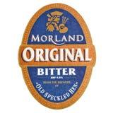 LONDYN, UK - LUTY 04, 2018: Morland beermat oryginalny gorzki kabotażowiec odizolowywający na bielu Zdjęcie Royalty Free