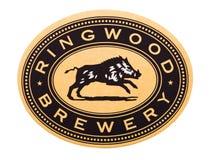 LONDYN, UK - LUTY 04, 2018: Ringwood browaru beermat kabotażowiec odizolowywający na bielu Zdjęcie Stock