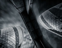 Londyn, UK - Marzec 29: Wysokiego kąta widok korniszonu drapacz chmur Obraz Stock