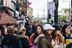 Londyn, UK - 2nd Kwiecień, 2017: Camden kędziorka wioska, sławny alt Zdjęcia Royalty Free