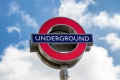 Londyn, UK - 2nd Kwiecień, 2017: Londyński metro znak z bl Obraz Royalty Free