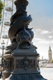 Londyn, UK - 30 2016 Sierpień: Jesiotra Lamppost Fotografia Stock