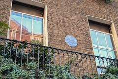 Londyn, UK, Wrzesień 19, 2014, dom Sherlock Holmes Piekarniana ulica 221B zdjęcia stock