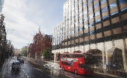 Londyn w deszczu zdjęcie stock