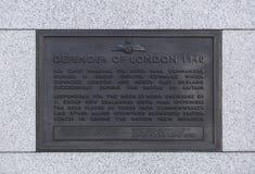 Londyn, Wielki Londyn, 7th 2019 Luty, szczegół statua upamiętniać Lotniczego Marshall Keith parka bitwa Brytania zdjęcie stock