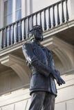 Londyn, Wielki Londyn, 7th 2019 Luty, szczegół statua upamiętniać Lotniczego Marshall Keith parka bitwa Brytania fotografia stock
