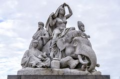 Londyn, Zjednoczone Królestwo Albert pomnik, Kensington ogródy Zdjęcie Royalty Free