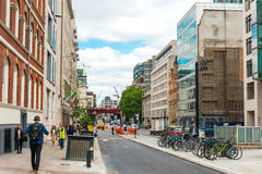 LONDYN ZJEDNOCZONE KRÓLESTWO, Czerwiec, - 21, 2016 Uliczny widok stara budowa Obrazy Stock