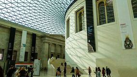 Londyn, Zjednoczone Królestwo/- 03/21/2019: główna sala British Museum zdjęcia royalty free