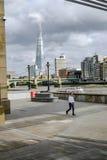 Londyn Zjednoczone Królestwo, Sierpień, - 3, 2017: Widok przez rzekę Obraz Royalty Free