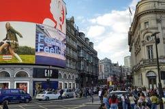 Londyn, Zjednoczone Kr?lestwo, Czerwiec 14 2018 Piccadilly cyrk zdjęcie royalty free