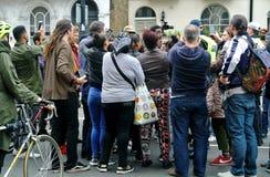 Londyn, Zlany królestwo: demonstracja w obronie Rashan Charles obrazy royalty free