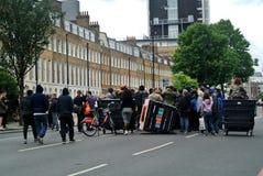 Londyn, Zlany królestwo: demonstracja w obronie Rashan Charles zdjęcia stock