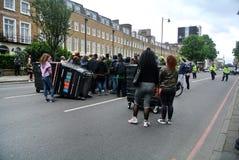 Londyn, Zlany królestwo: demonstracja w obronie Rashan Charles obraz stock