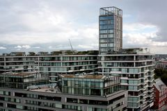 Londyn, Zlany królestwo - 2017: Londyńscy budynki zdjęcia royalty free