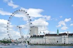 Londyn, Zlany królestwo - widok Londyński oko obraz royalty free