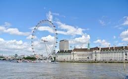 Londyn, Zlany królestwo - widok Londyński oko fotografia stock