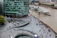 Londyn, Zlany królestwo - 2017: widok z lotu ptaka park podczas dzwi otwarty w Londyn zdjęcie royalty free