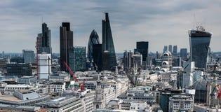 Londyńscy linia horyzontu budynki Zdjęcia Stock