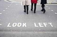 Londyński crosswalk Obrazy Royalty Free