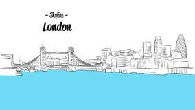 Londyński linii horyzontu nakreślenie Obrazy Stock