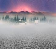 Lone Alpine monastery Stock Images