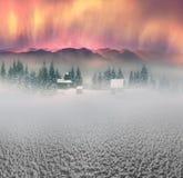 Lone Alpine monastery Stock Image