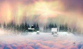 Lone Alpine monastery Stock Photo