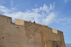A Lone Archer In A Castle - Old City Wall Ramparts Stock Images