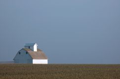 Lone Barn. Bathed in morning sun Stock Images
