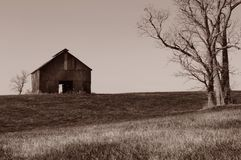 Lone Barn Royalty Free Stock Photos