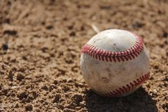 The Lone Baseball Royalty Free Stock Images