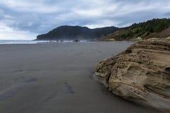 Lone beach in Oregon Stock Photo