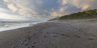 Lone beach Stock Image