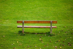 Lone bench Stock Image