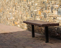 Lone bench Royalty Free Stock Photos