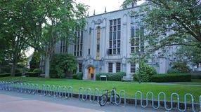 A lone bike at University of Washington Stock Photo