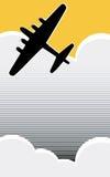 lone bombplan Arkivbilder