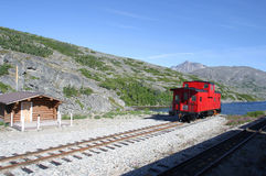 A Lone Caboose. At the end of the tracks Royalty Free Stock Photography