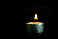Lone Candle Royalty Free Stock Images