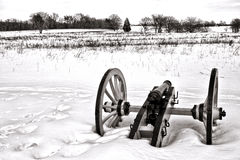 Lone Canon in Field at Valley Forge National Park Stock Images