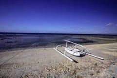 Lone catamaran on the coast,Nusa Penida, Indonesia Royalty Free Stock Photo