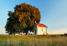 Lone Chapel on field Royalty Free Stock Photo